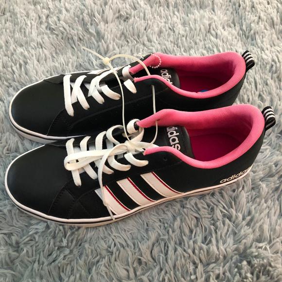 adidas Shoes - Adidas Neo Label VS Pace Black White Pink Sz W10
